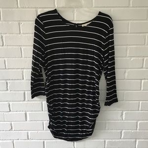 Jessica Simpson Maternity Stripe Blouse w/Buttons